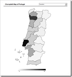 Choropleth Map Template Portugal - click to enlarge