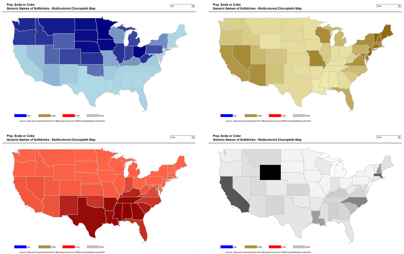 Multicolored Choropleth Maps With Excel Clearly And Simply - Us counties in excel