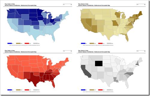 4 Choropleth Maps - click to enlarge