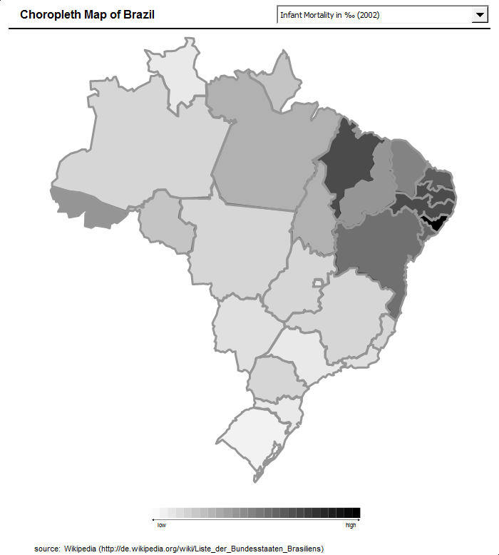 Choropleth Map Template Brazil Clearly And Simply