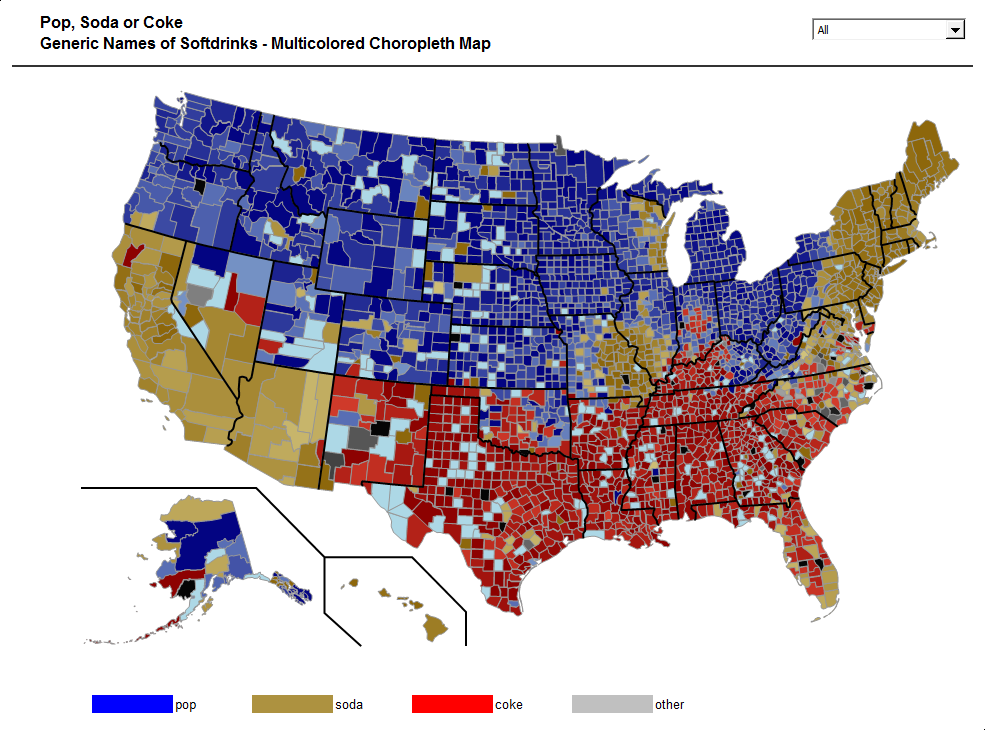 United States Map With County Names.Choropleth Map Template Usa By Counties Clearly And Simply