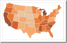 Choropleth Map with Tableau - click to enlarge