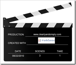Action - Tableau Clapperboard