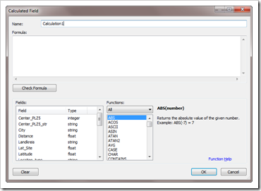 Calculated Field Dialog - click to enlarge