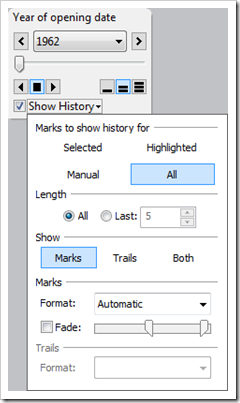 Show History Settings - click to enlarge