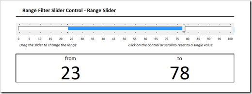 Range Filter Slider Control in Microsoft Excel - Clearly and