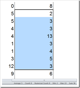 Quick Calculations Microsoft Excel Status Bar  - click to enlarge