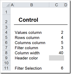 Worksheet Control