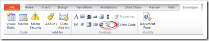 Developer Tab More Controls
