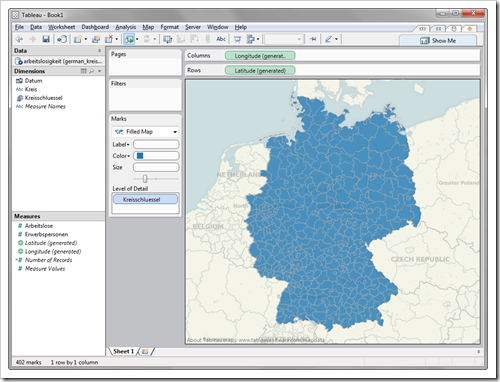 Filled Maps Germany by Kreise