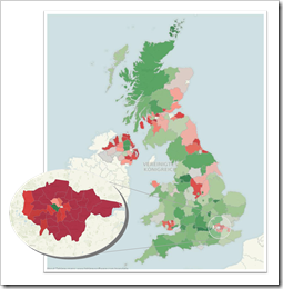 Filled Map United Kingdom and London