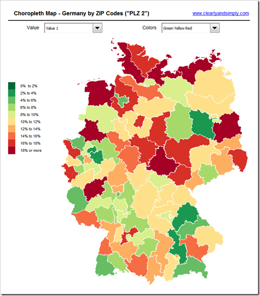 Germany by Zip Code 2 - click to enlarge