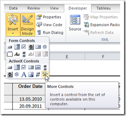 ActiveX Controls - click to enlarge