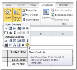ActiveX Controls - click to enlarge