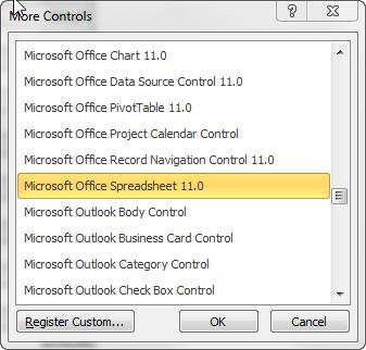 microsoft office spreadsheet