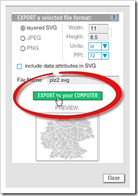 Export File - click to enlarge