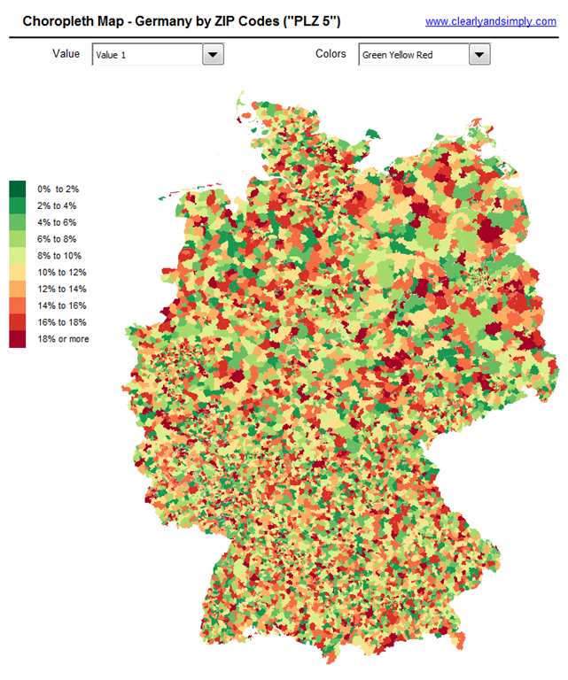 Germany By Zip Code 5 Click To Enlarge
