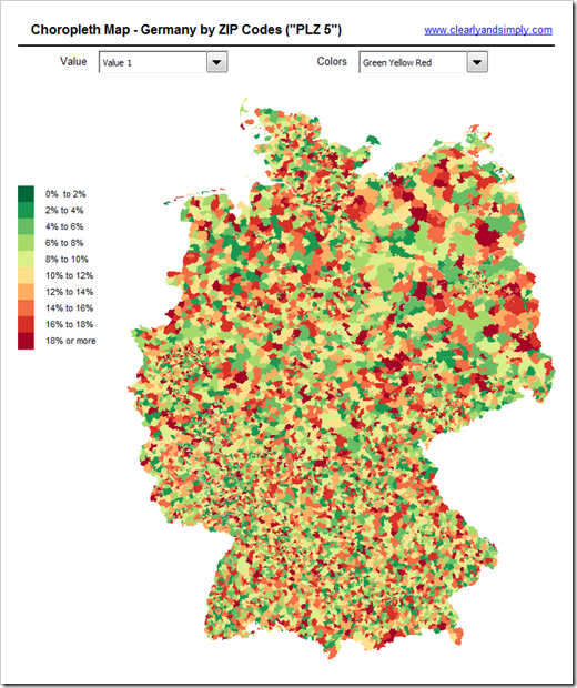 Germany by Zip Code 5 - click to enlarge