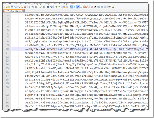 Wrecking Ball Cover Base64 Encoded