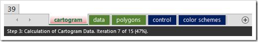 Cartograms Status Bar