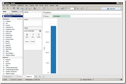 Writing and Reading Tableau Views to and from Databases and