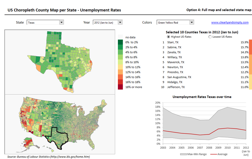 US Choropleth Map By County Per State A Th Option Clearly And - Us map pi