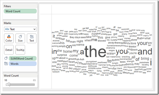 Word Cloud - Filter Frequency
