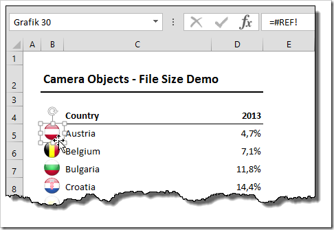Camera Objects bloat File Size - #REF