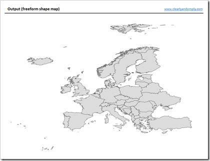 Another technique for interactive excel charts clearly and simply europe map freeform shapes gumiabroncs Image collections