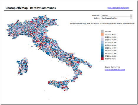 Map of Italy by Communes