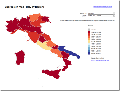 Map of Italy by Regions