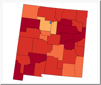 Choropleth Map New Mexico (new version)