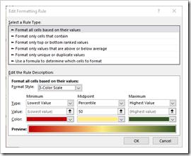 Edit Formatting Rule Window