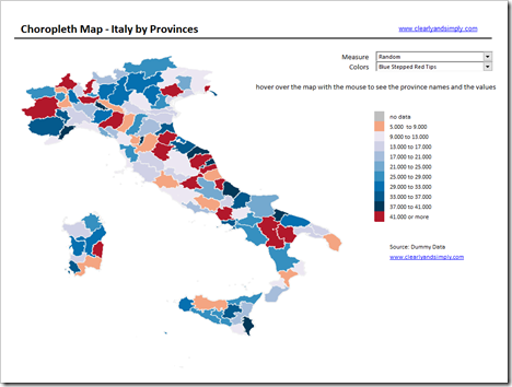Map of Italy by Provinces